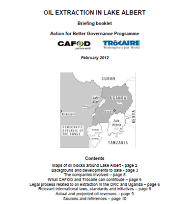 Oil extraction in Lake Albert